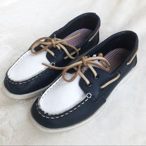 Jane and Jack Boy boat shoes
